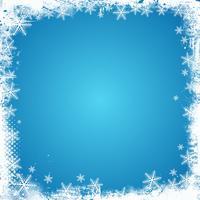 Snowflake Border Free Vector Art.