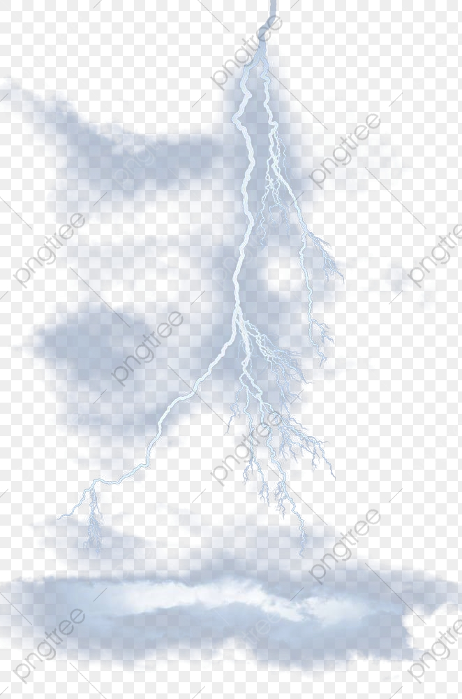 Blue Lightning Light Effect, Lightning Clipart, Lightning, Day PNG.