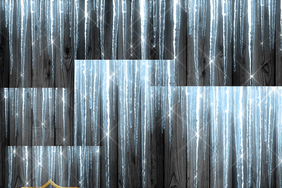 Sparkling Icicles Clipart Overlays ~ Graphics ~ Creative Market.