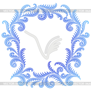Frost Pattern frame.