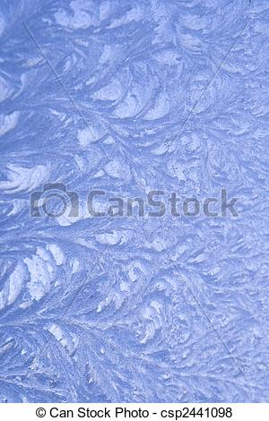 Stock Illustration of Frost pattern on window csp2441098.