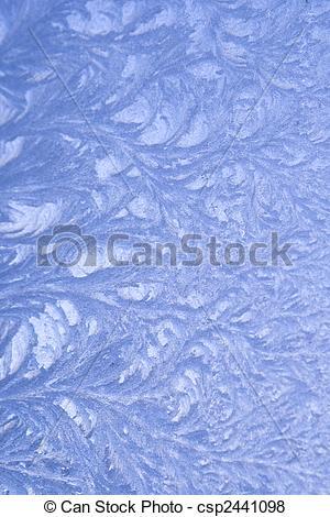 Stock Illustration of Frost pattern on window csp2441098.