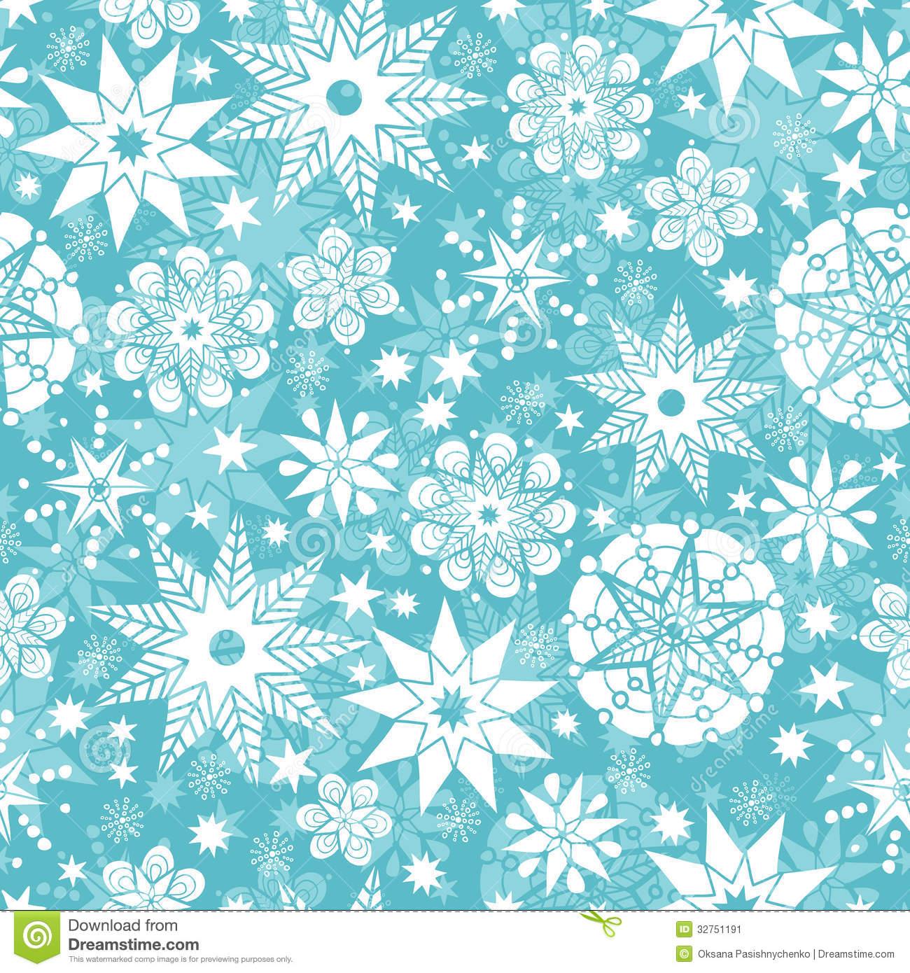 Decorative Snowflake Frost Seamless Pattern Stock Image.