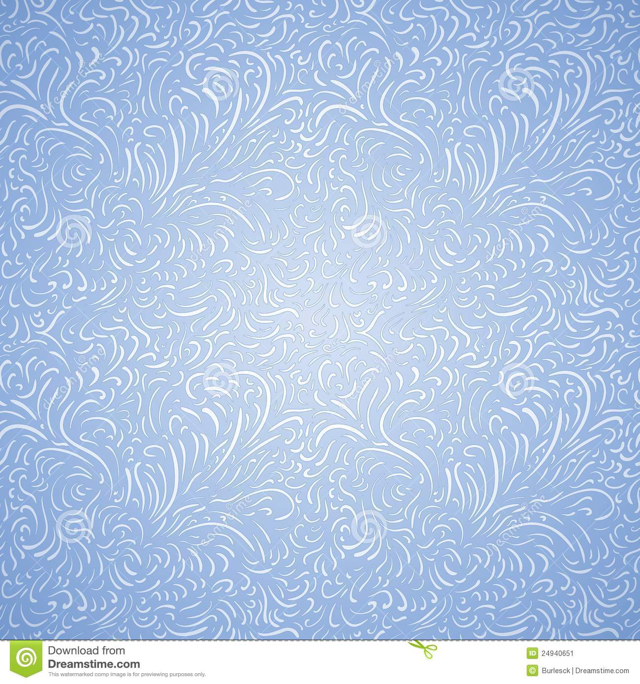 Seamless Frost Decor Pattern Stock Image.