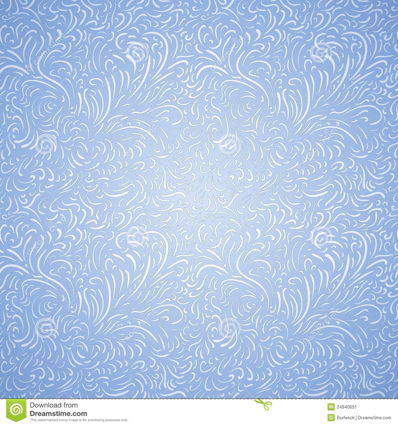 Seamless Frost Decor Pattern Stock Image.