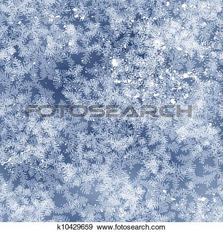 Clip Art of Frost pattern k10429659.