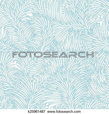Clip Art of Seamless frost ice pattern. Abstract winter texture.