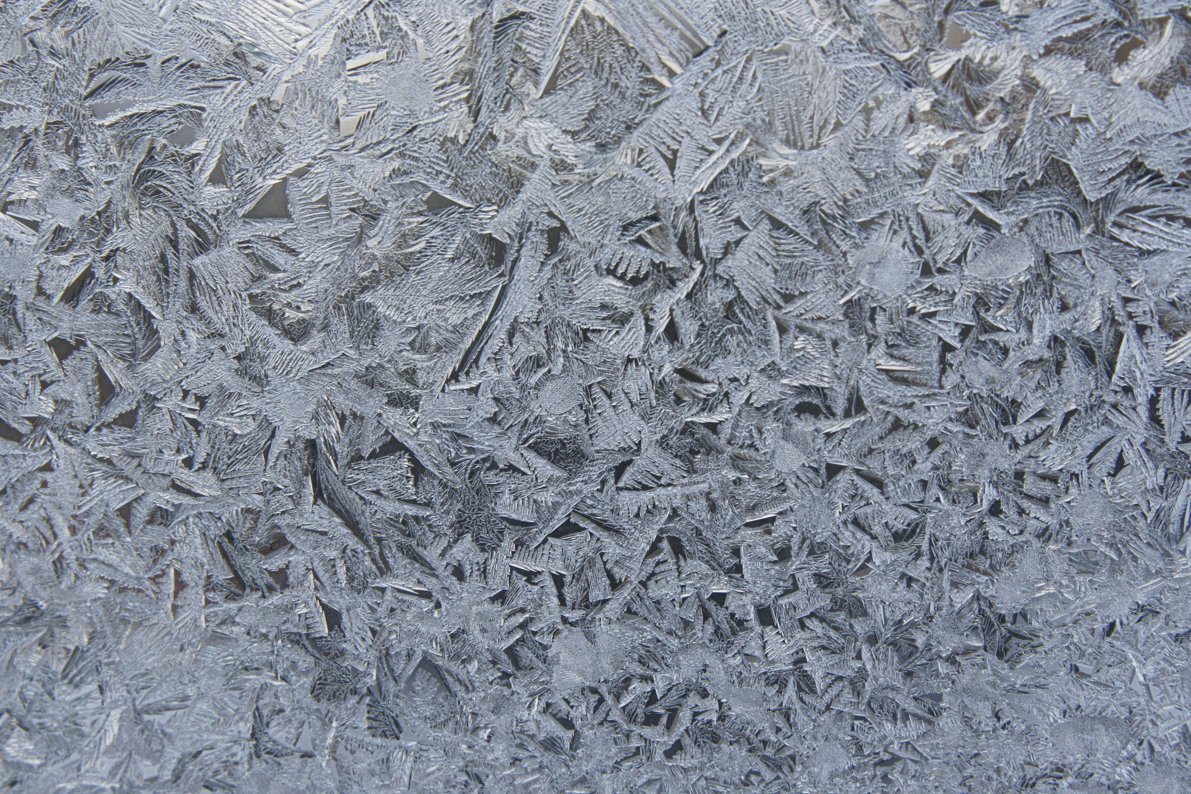 Frost Crystals on Glass Texture Picture.