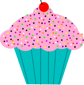 Pink Frosted Cupcake Clip Art at Clker.com.