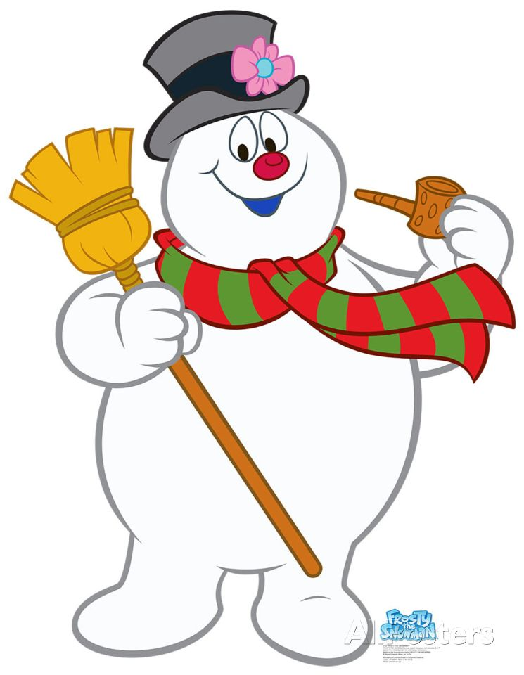 Frosty The Snowman Lifesize Standup Cardboard Cutouts.