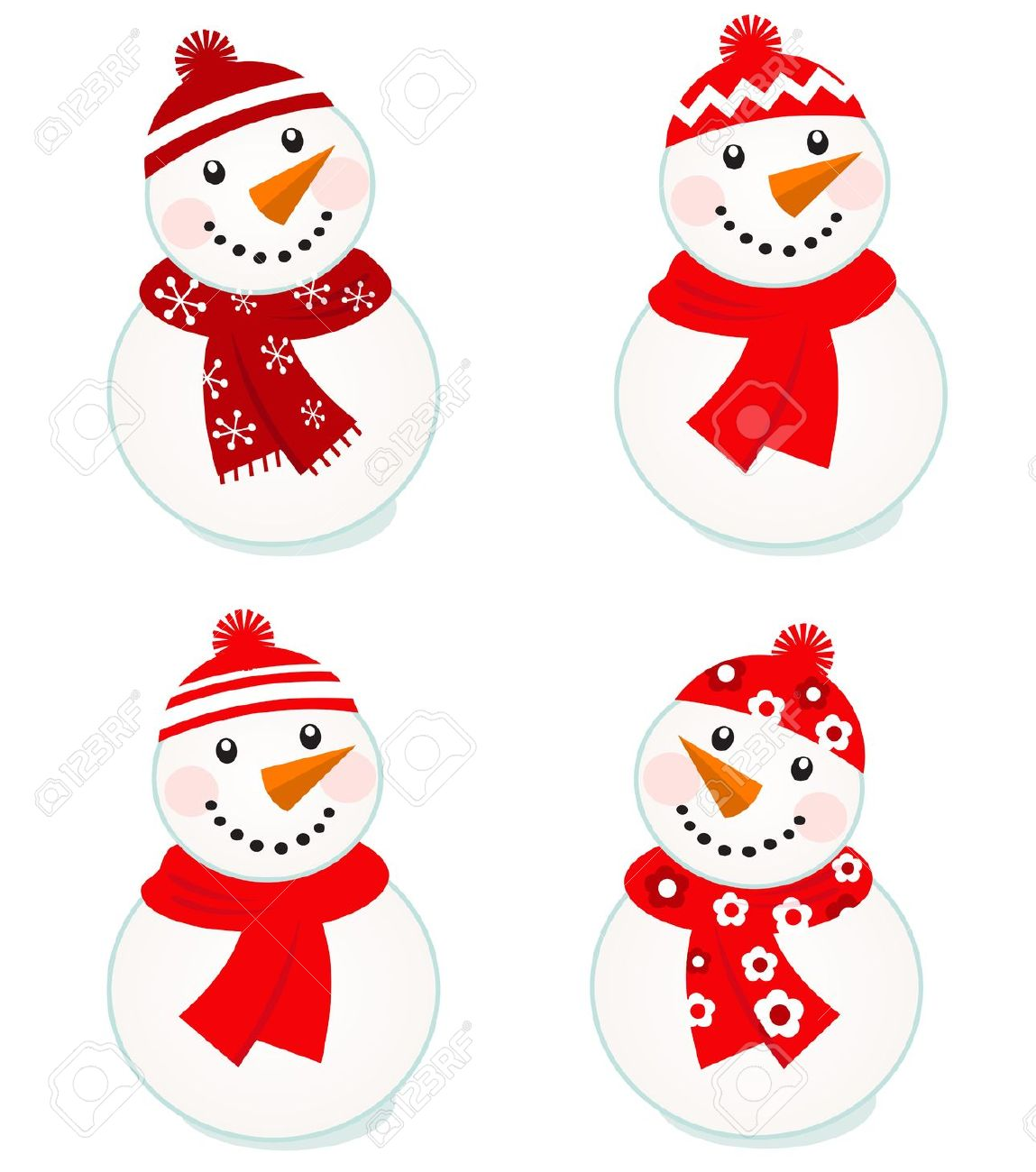 Free frosty snowman clipart.