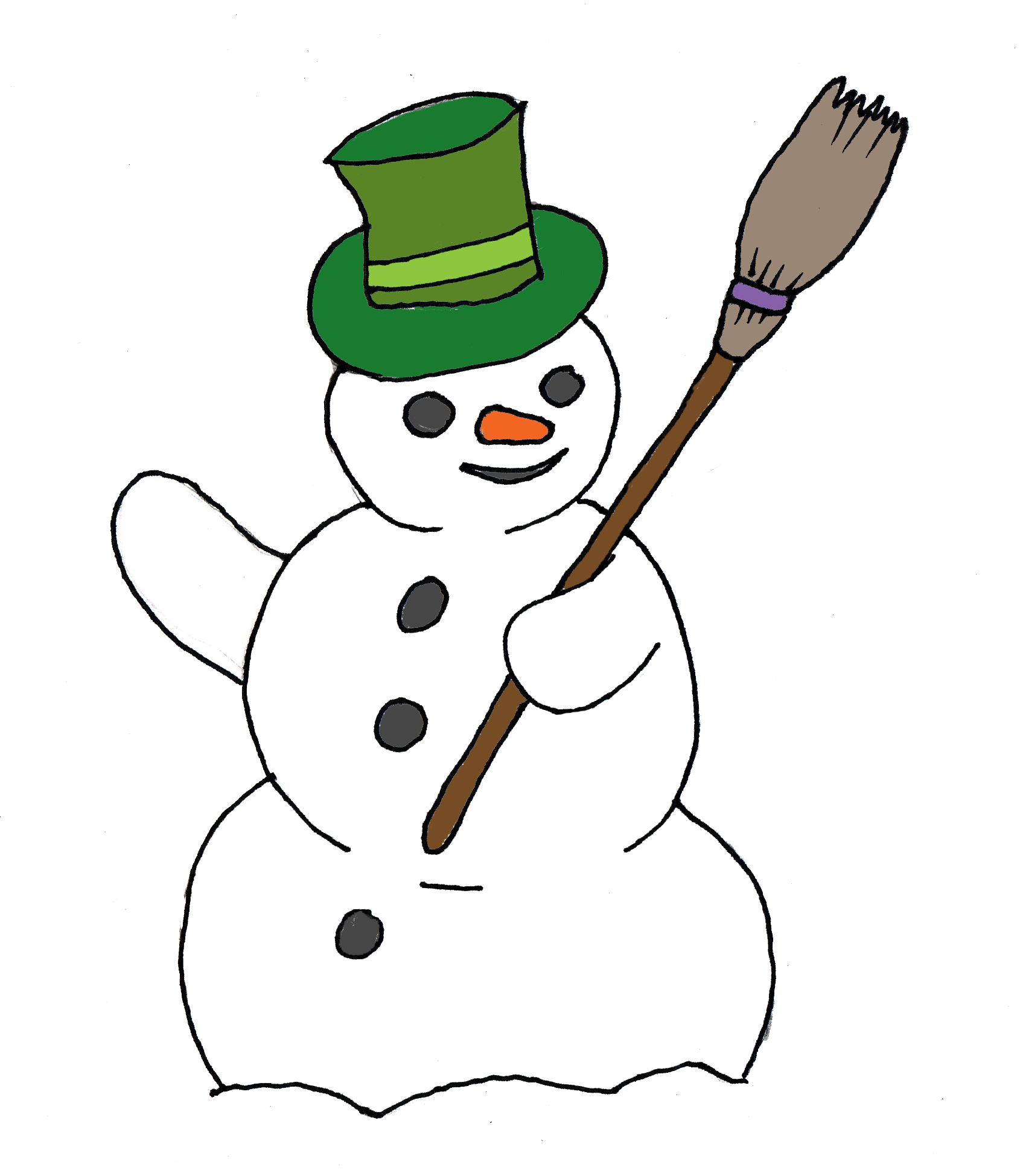 Free Snowman Clip Art.