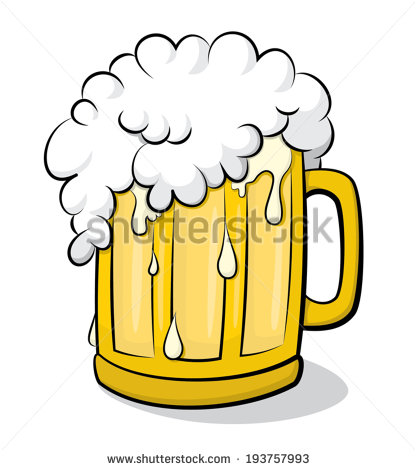 Beer Glass Overflowing Vector Clip Art Stock Vector 193757993.