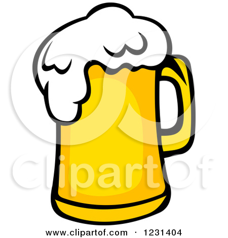 Clipart of a Frothy Mug of Beer.