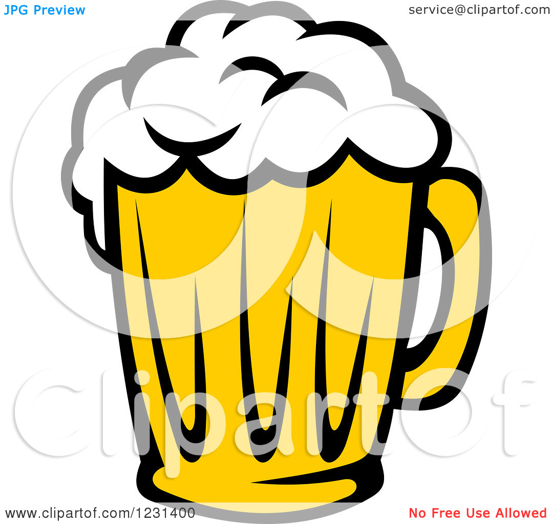 Clipart of a Frothy Mug of Beer 5.