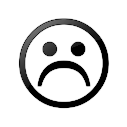 Frown Clipart Black And White.