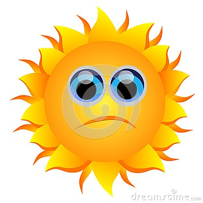 Sun Frown Clipart.