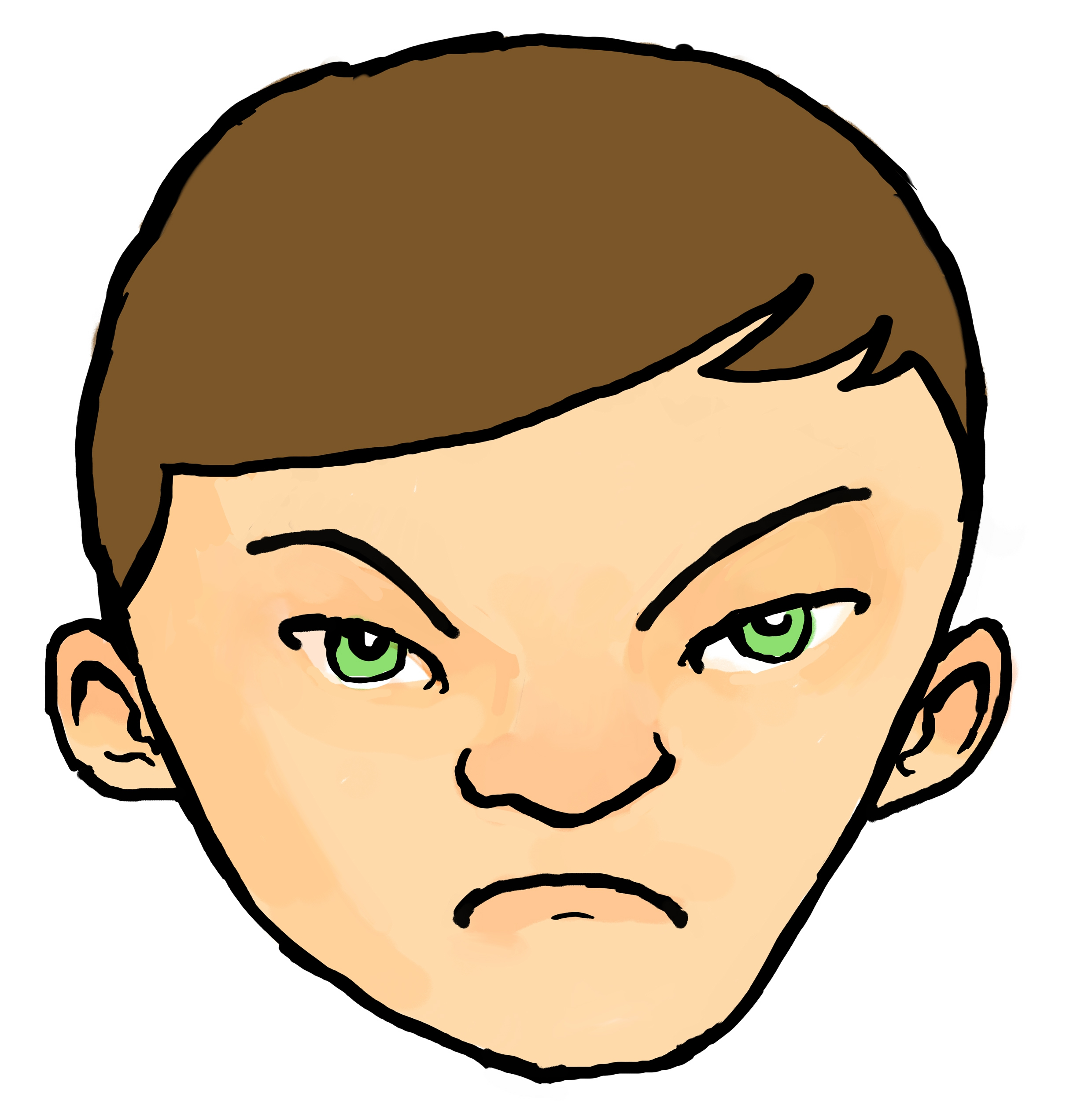 Frowning Face Clipart#1996501.