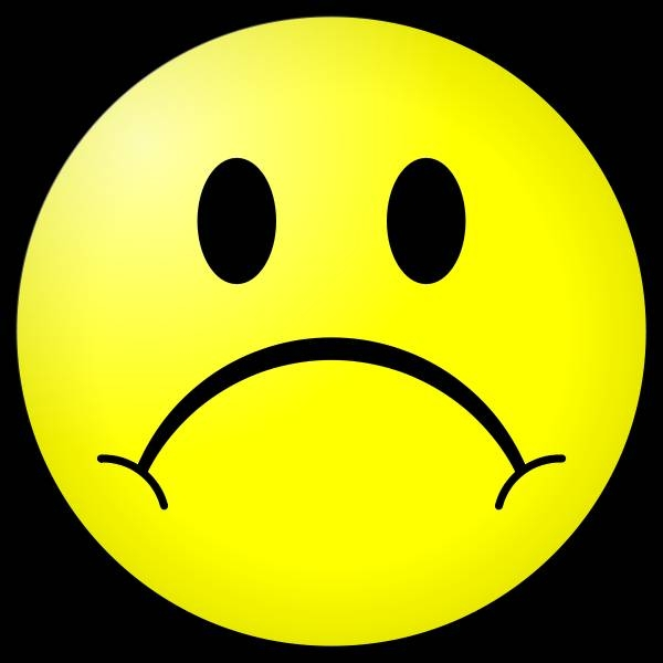Frowning Face Clipart.