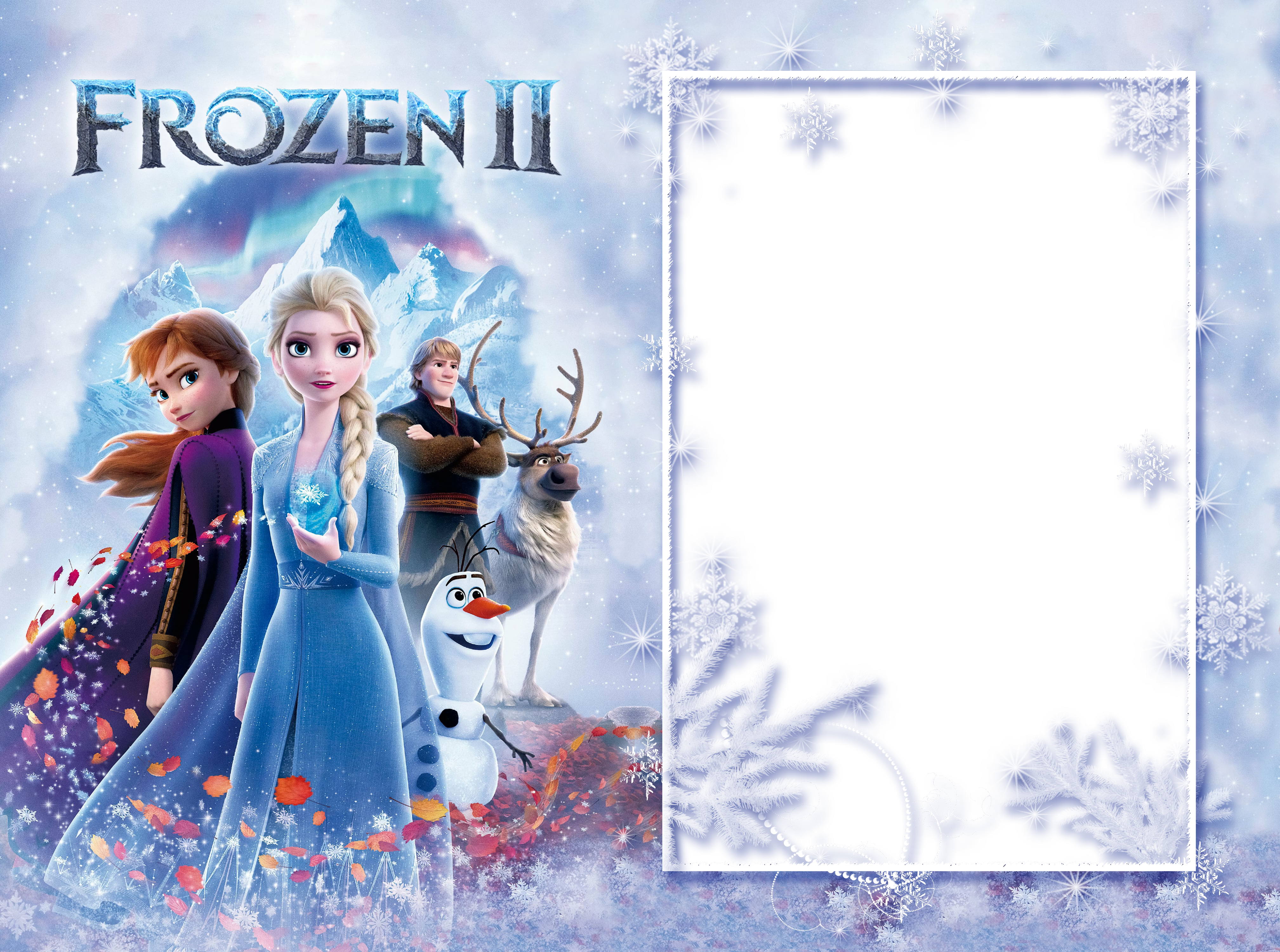 Frozen 2 PNG Photo Frame.