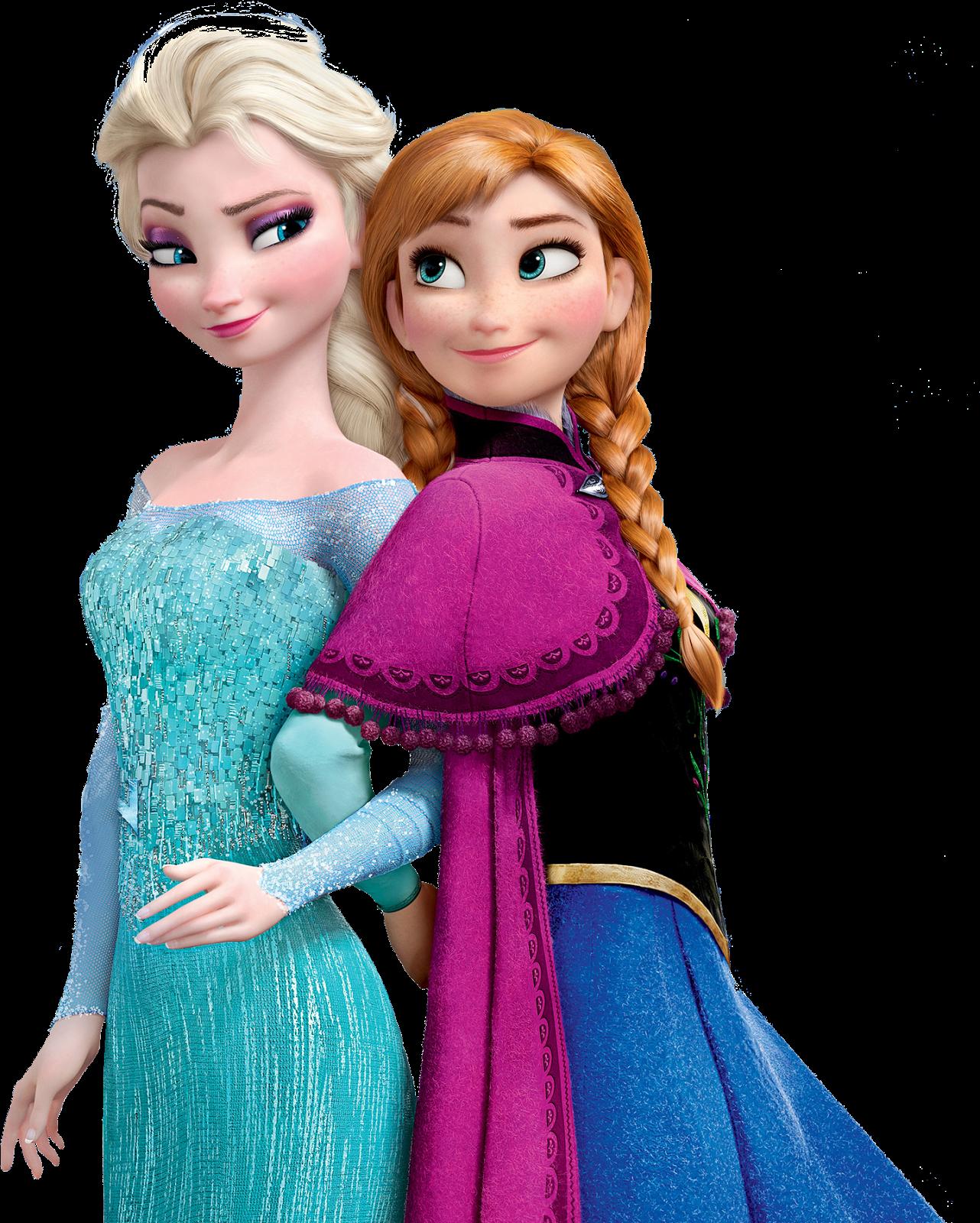 PNG Frozen (Elsa, Anna, Olaf).