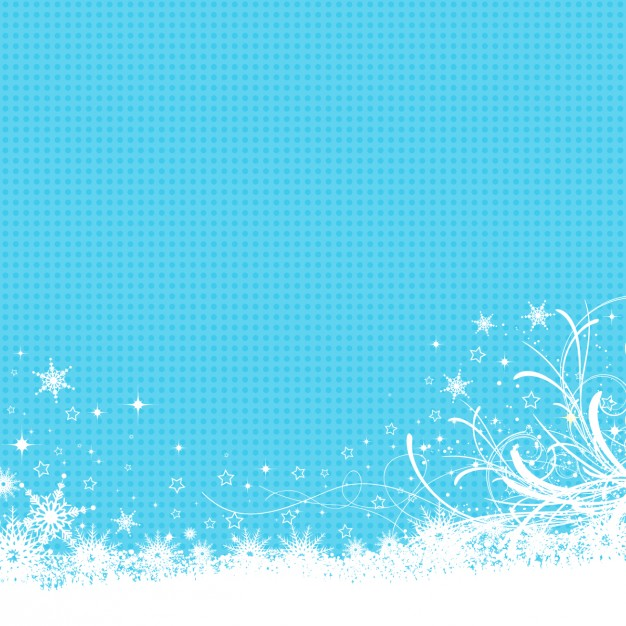 Frozen background in blue color Vector.