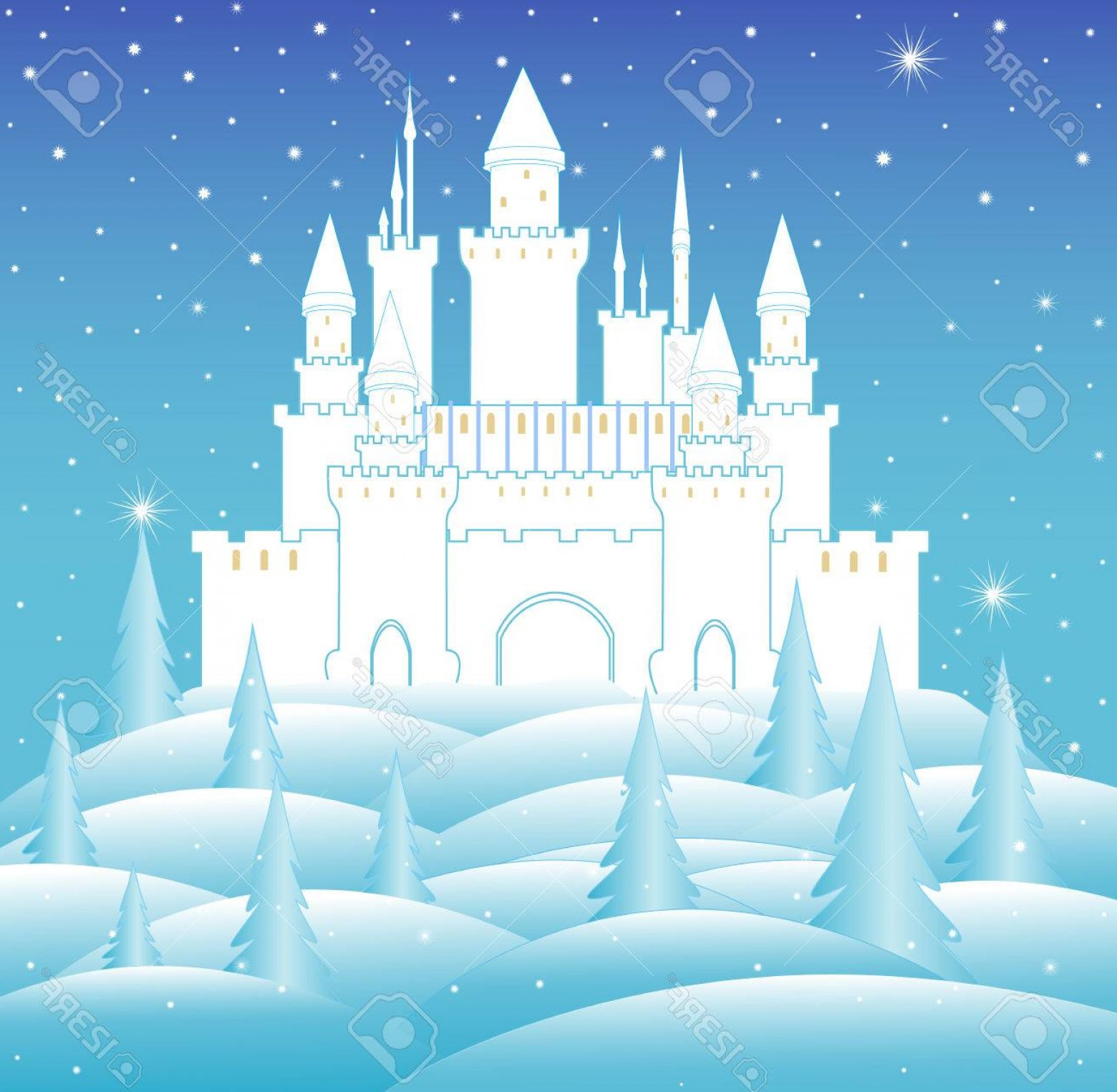Frozen Castle Vector.