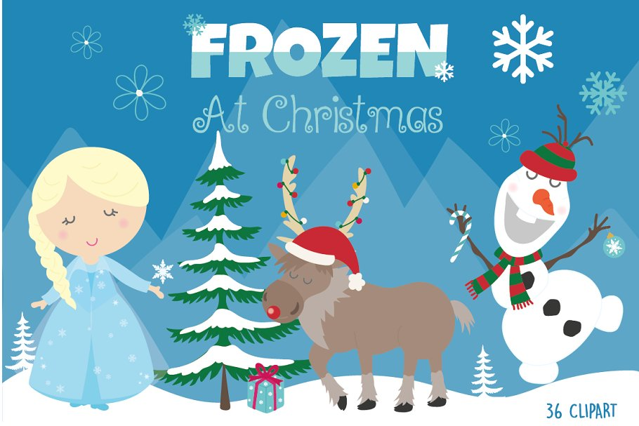 Frozen at Christmas ~ Illustrations ~ Creative Market.