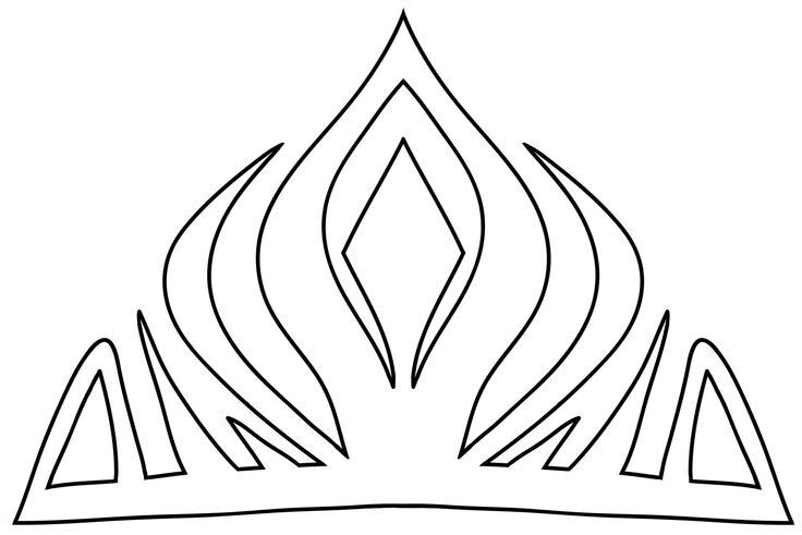 Elsa's Crown Template, Disney's Frozen..