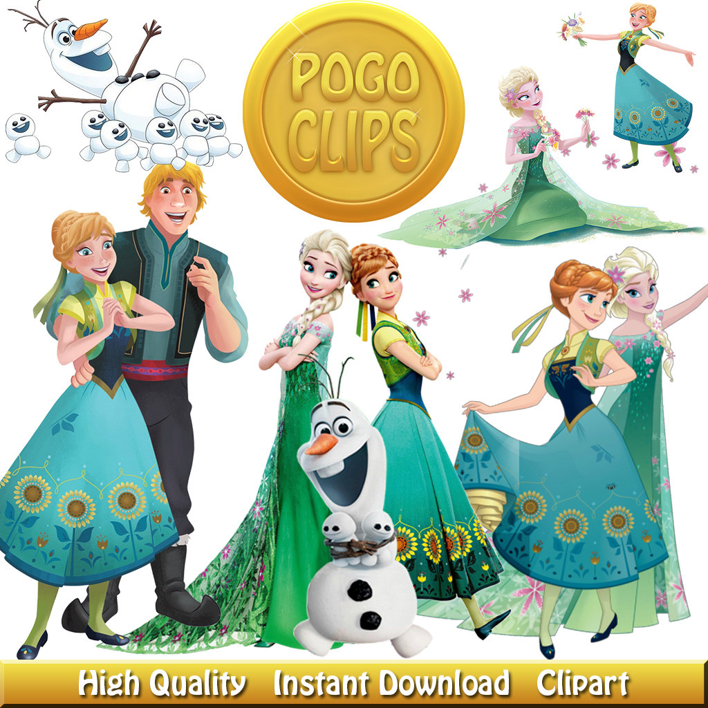 24 Frozen Fever Clipart Disney Characters.