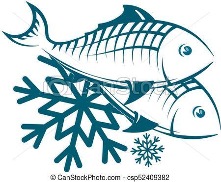 Frozen fish symbol.