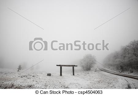Stock Photos of Ice fog in Cypress Hills Provincial Park of.