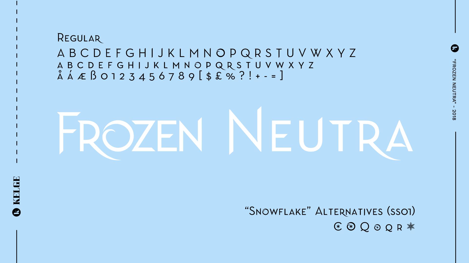 Frozen Fonts.