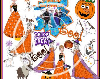 Frozen Halloween Clipart.