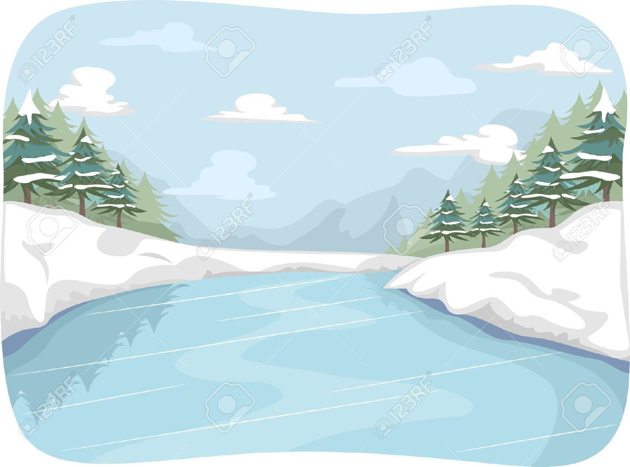 lake in winter clipart clipground Ice Skating Rink Clip Art Sledding Clip Art Free