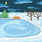 Frozen Lake Clip Art.