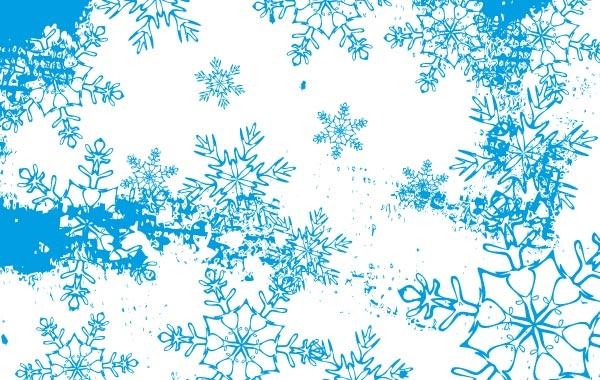 Frozen landscape Free Vector.