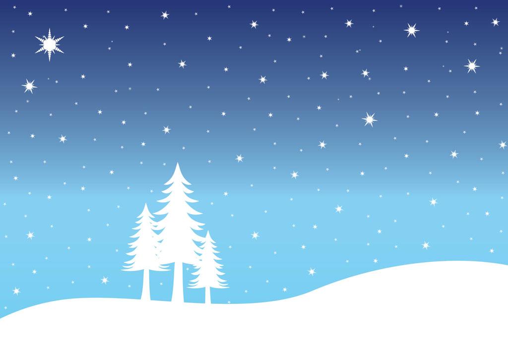 Clip Art Of Snowy Landscapes Clipart.