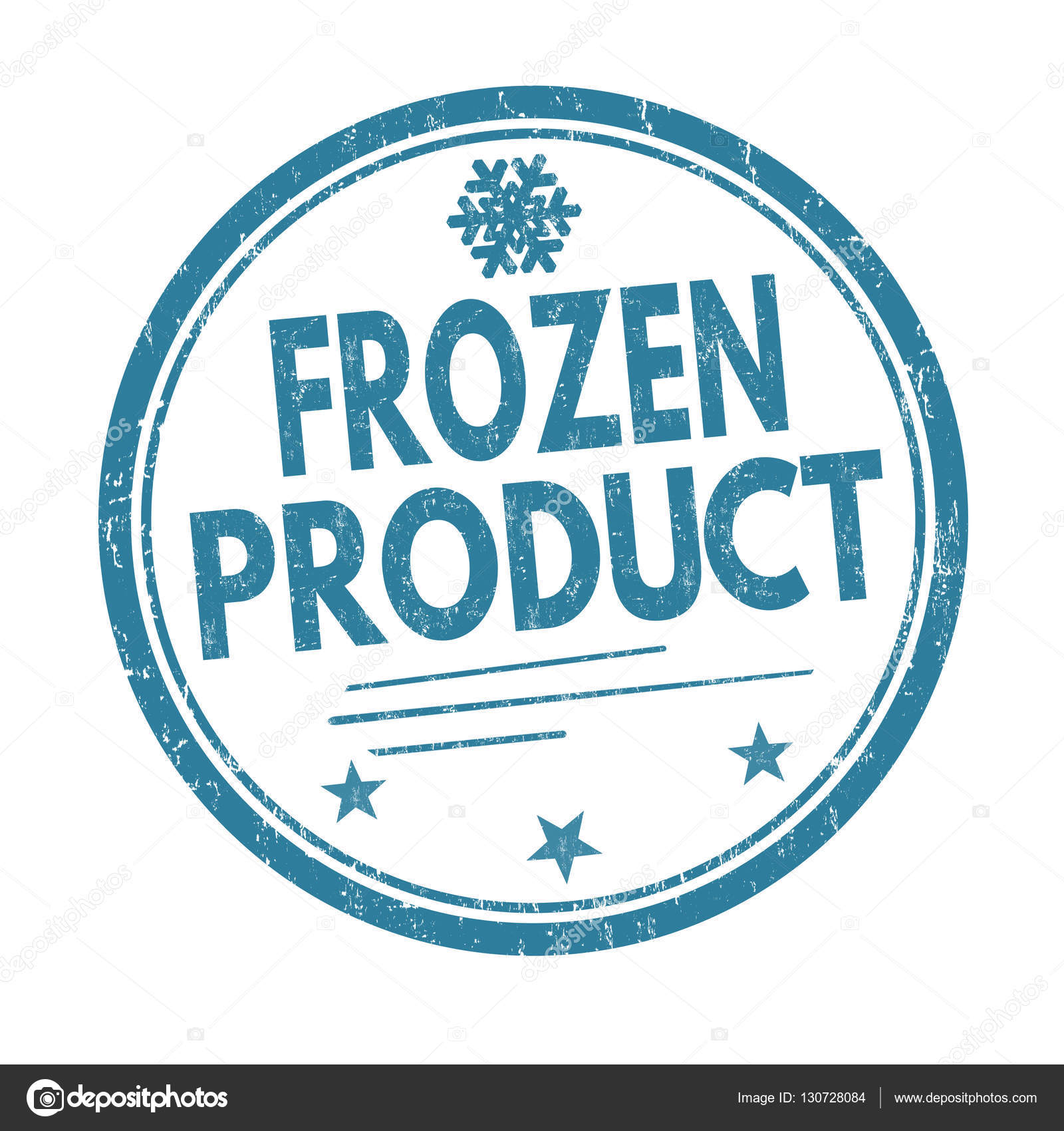 Frozen product sign or stamp — Stock Vector © roxanabalint #130728084.
