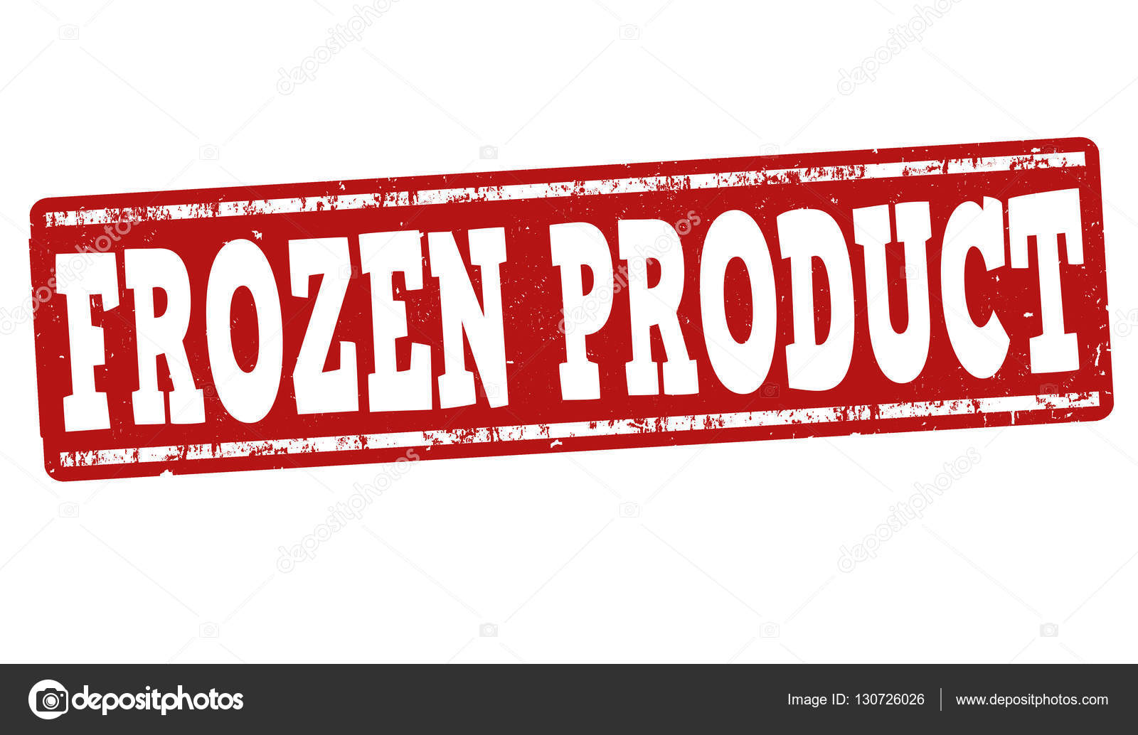 Frozen product sign or stamp — Stock Vector © roxanabalint #130726026.