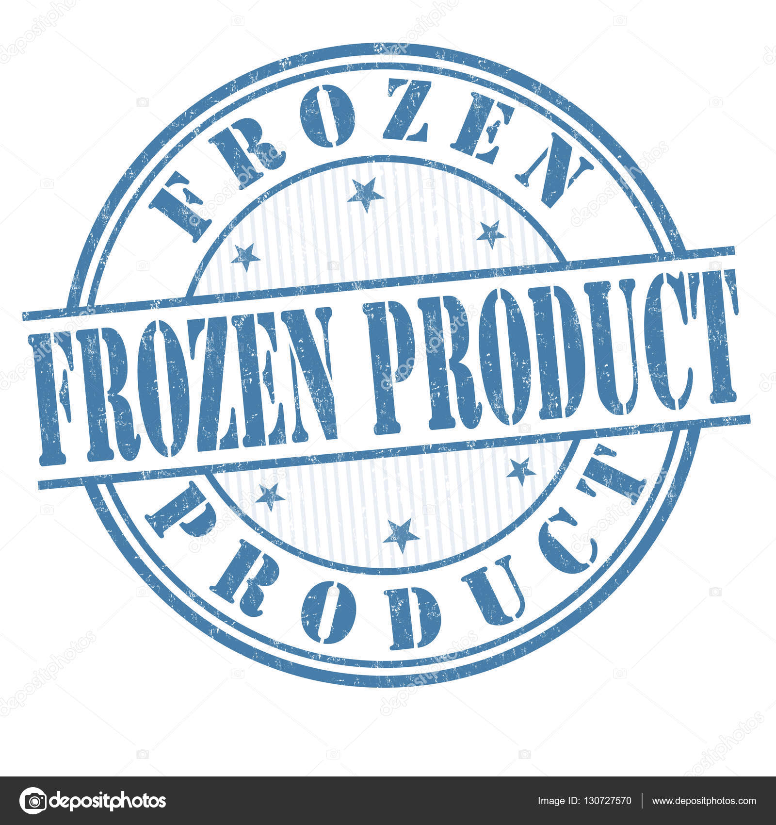 Frozen product sign or stamp — Stock Vector © roxanabalint #130727570.