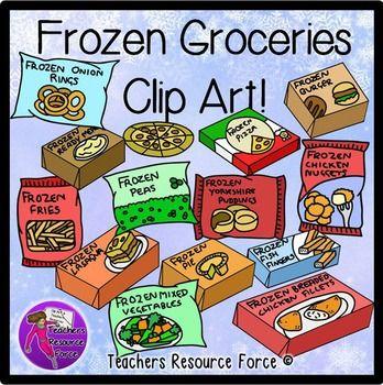 Frozen Groceries clip art.