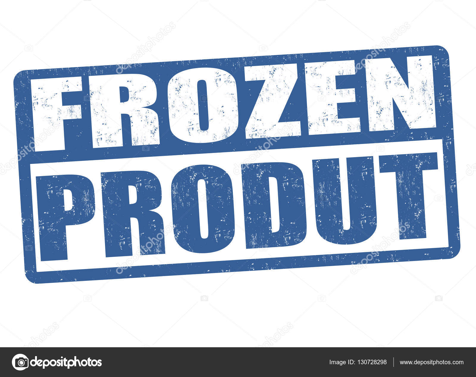 Frozen product sign or stamp — Stock Vector © roxanabalint #130728298.