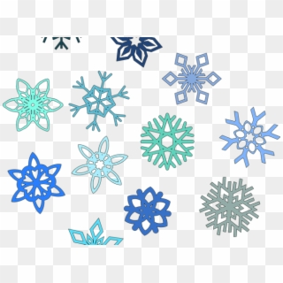 Frozen Snowflake PNG Transparent For Free Download.