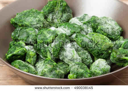 Frozen Spinach Stock Photos, Royalty.
