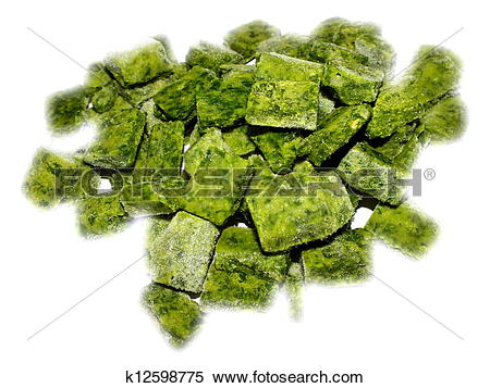 Stock Image of frozen spinach k12598775.