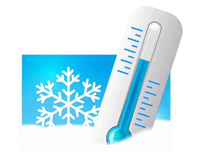 Freezing Cold Thermometer Clipart.
