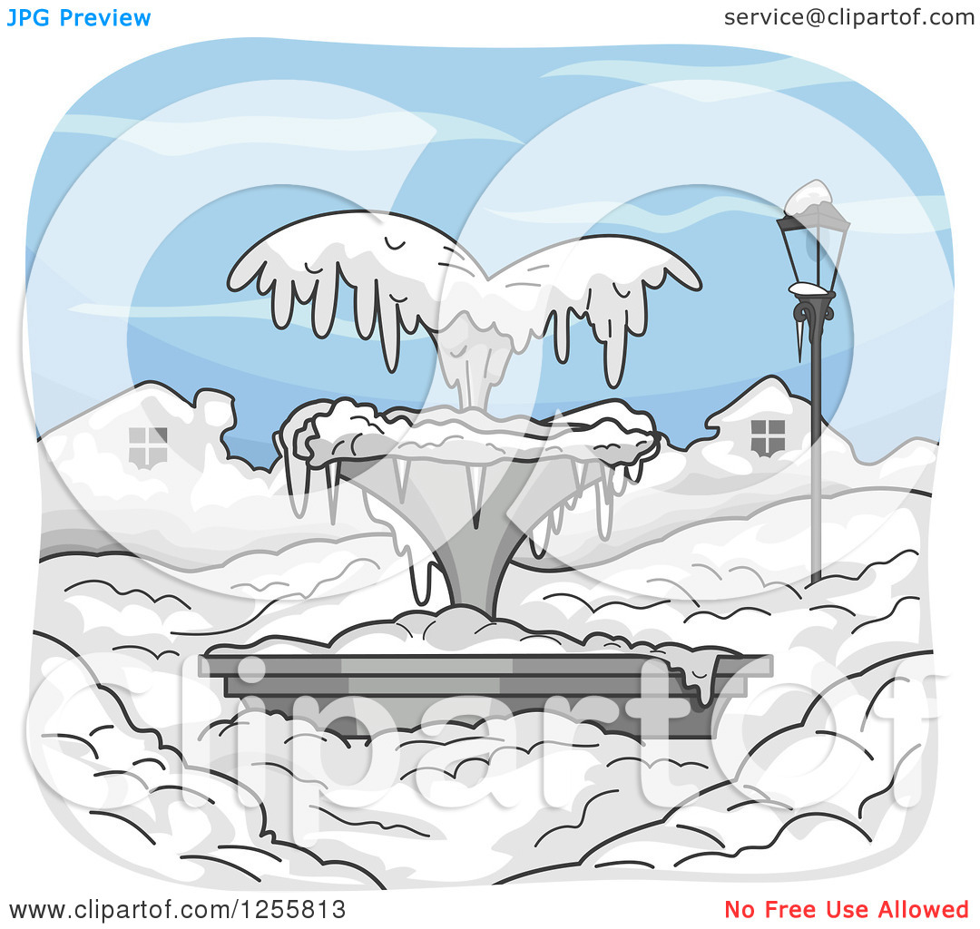 Clipart of frozen water.