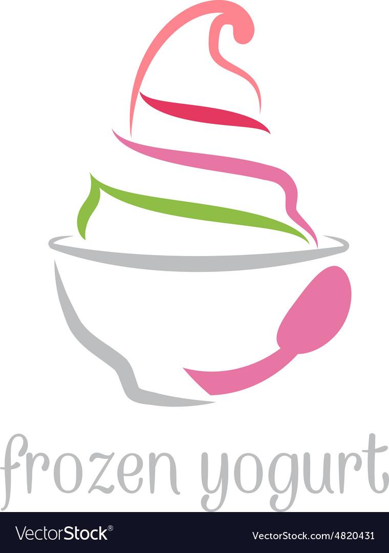 Concept of frozen yogurt.