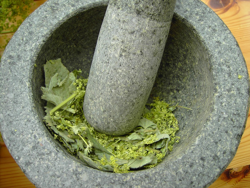 Free photo Herbs Remedy Manufacturing Natural Medicine Alchemy.